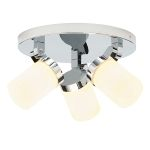 Endon Cosmo 39617 3 light Round Chrome Ceiling Light